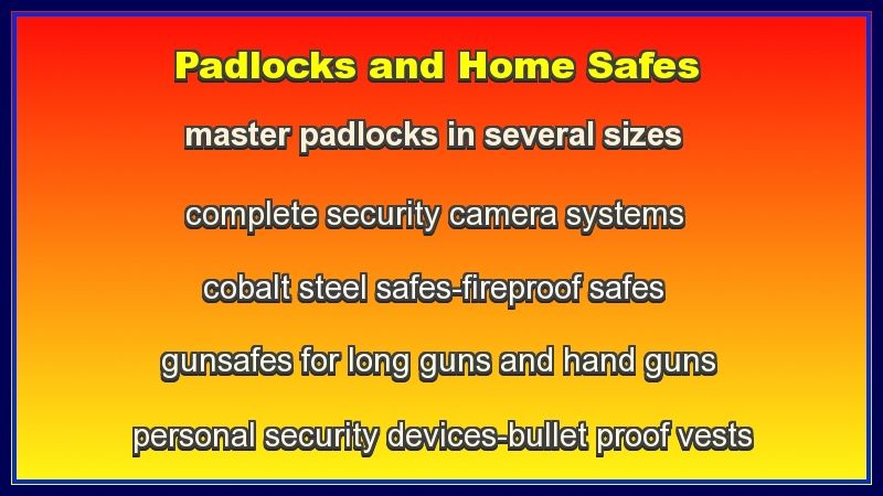 home security store padlocks and safes