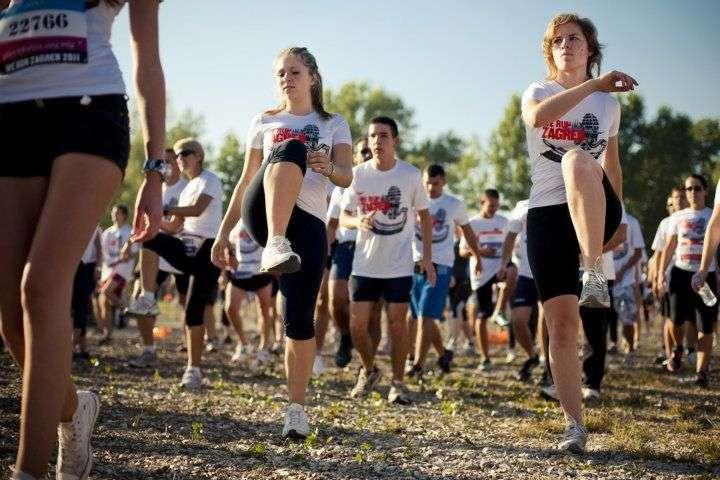 Grupno zagrijavanje prije utrke